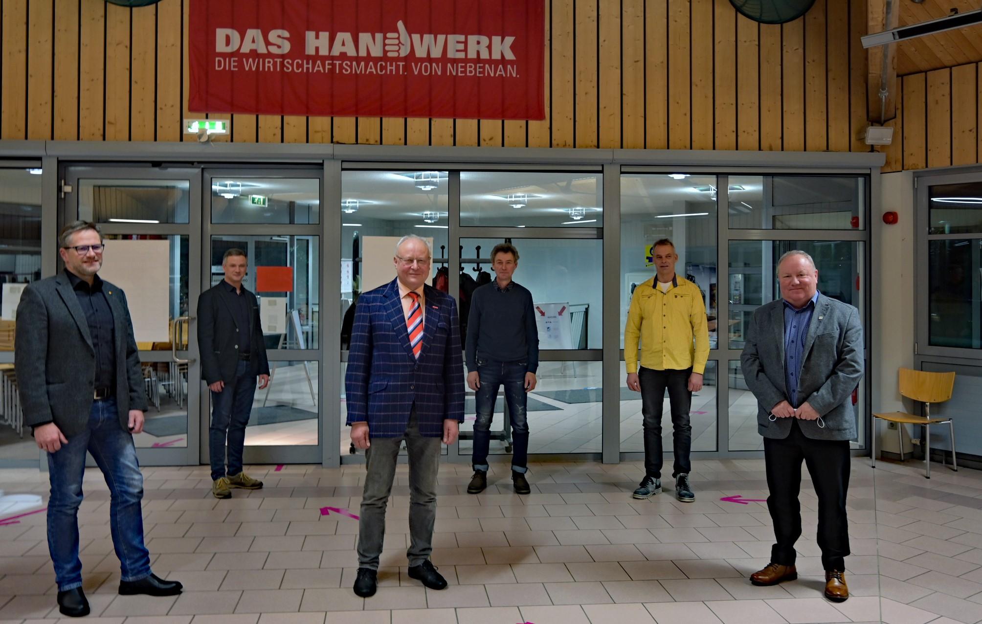 Vorstand der Kreishandwerkerschaft Schmalkalden-Meiningen/Suhl (ohne Hr. Hüther)